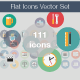 Flat Icons Vector Set - GraphicRiver Item for Sale