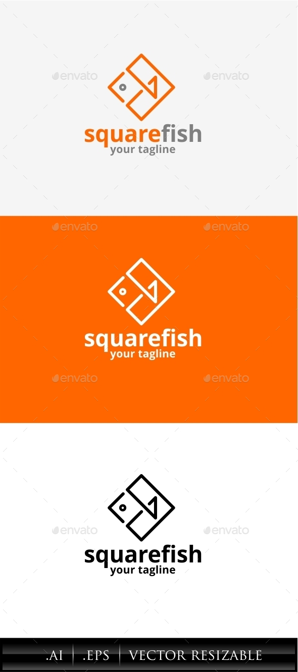 GraphicRiver Square Fish Logo 11308866
