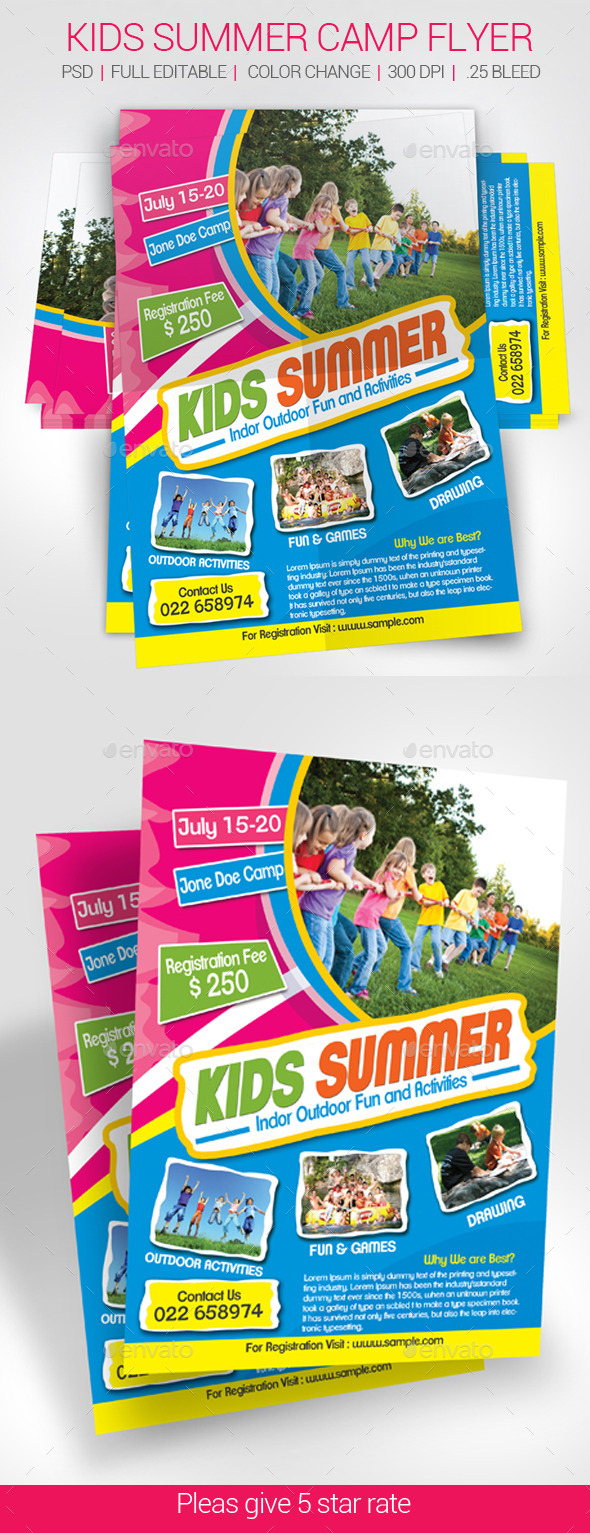GraphicRiver Summer Camp Flyer 11309103