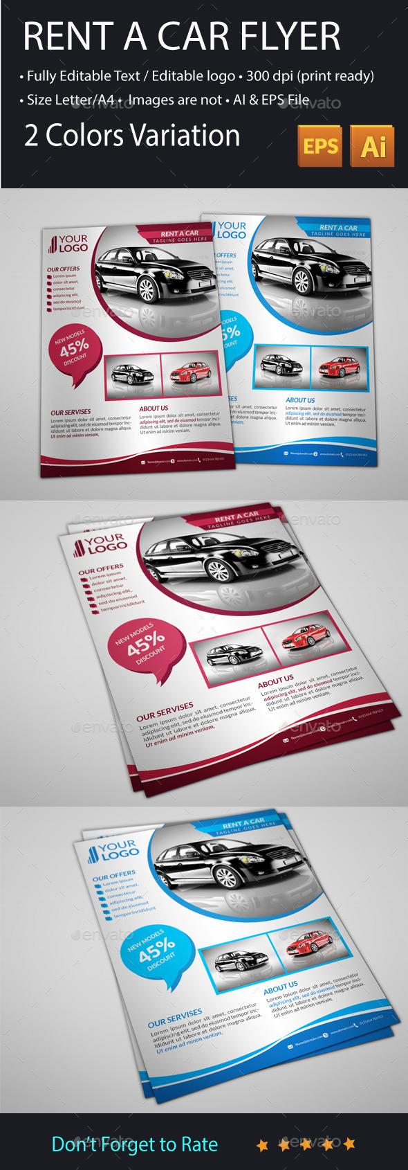GraphicRiver Rent A Car Flyer 11277914
