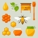 Set Of Honey And Bee Objects - GraphicRiver Item for Sale