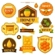 Set Of Honey And Bee Labels, Badges, Emblems - GraphicRiver Item for Sale