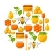 Background Design With Honey And Bee Objects - GraphicRiver Item for Sale