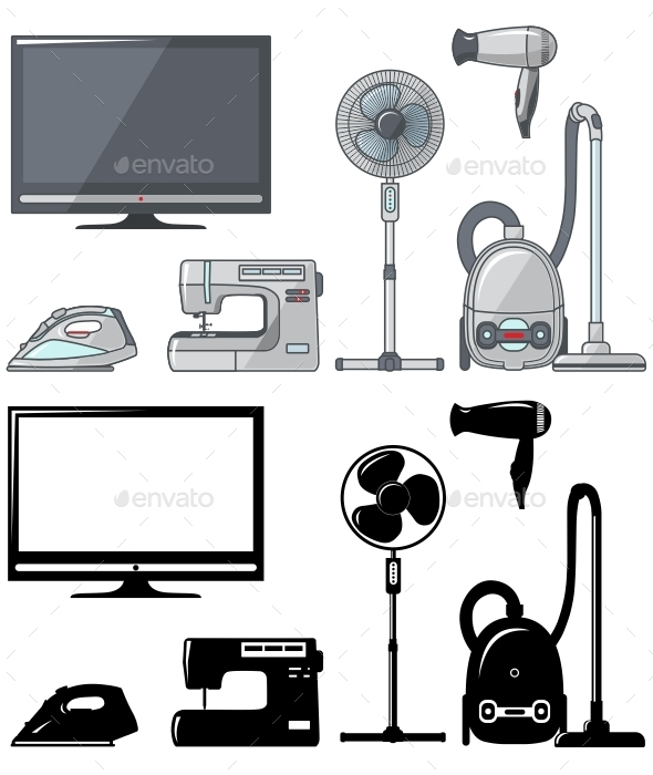 GraphicRiver Set of Household Appliances 11306361