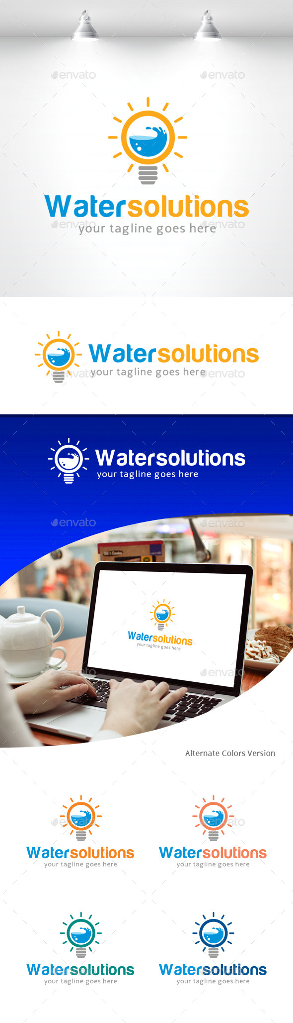 GraphicRiver Water Solutions Logo 11309183