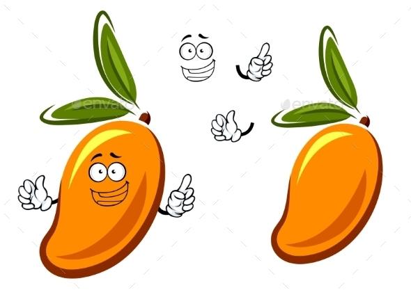 GraphicRiver Sweet Orange Mango Fruit Cartoon Character 11309200