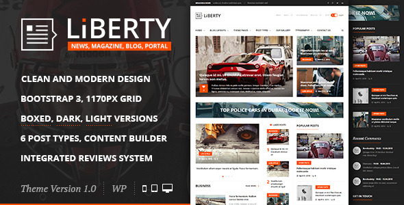 ThemeForest Liberty News Magazine Blog WordPress Theme 11196766