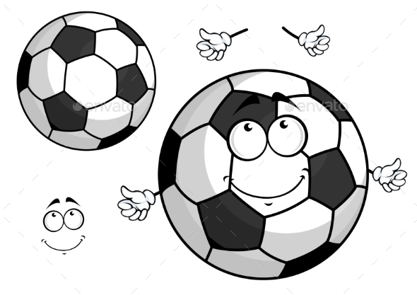GraphicRiver Cartoon Football Or Soccer Ball Mascot 11309206