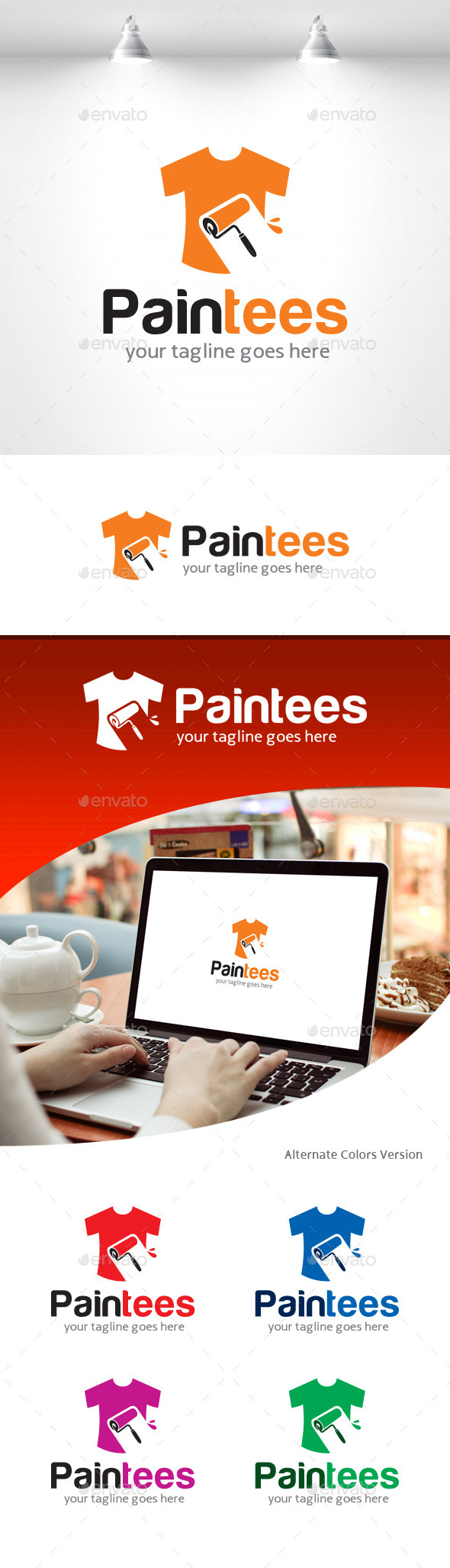 GraphicRiver Paint Tees Logo 11309209