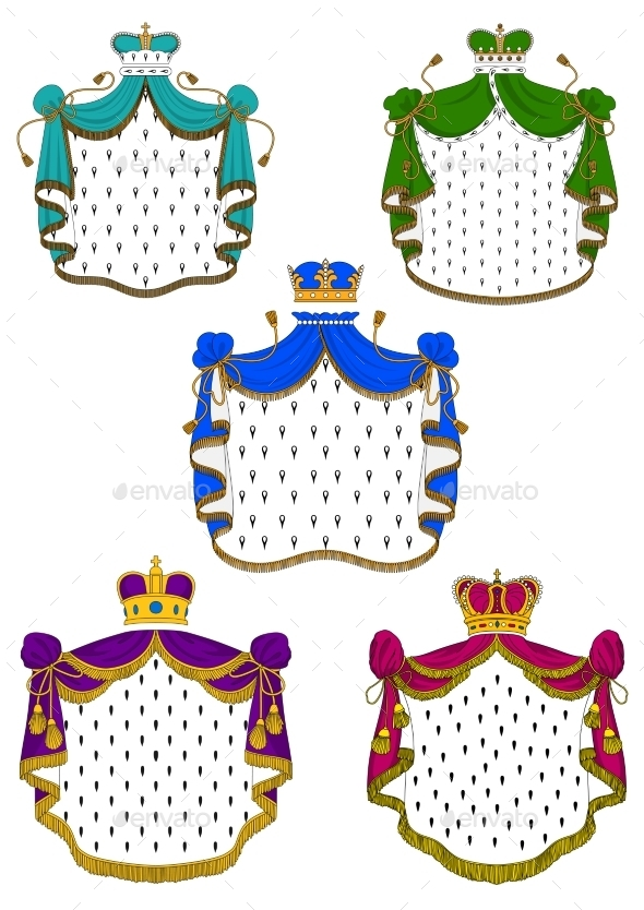 GraphicRiver Colorful Ceremonial Royal Mantles And Crowns 11309211