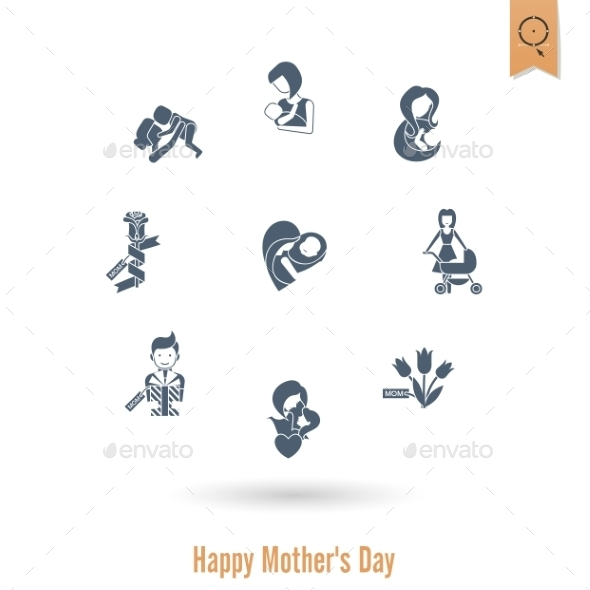GraphicRiver Happy Mothers Day Icons 11309226