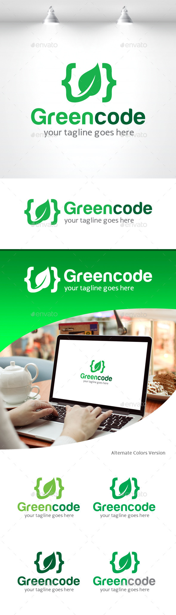 GraphicRiver Green Code Logo 11309231