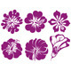 Hibiscus Silhouettes Vector Set - GraphicRiver Item for Sale