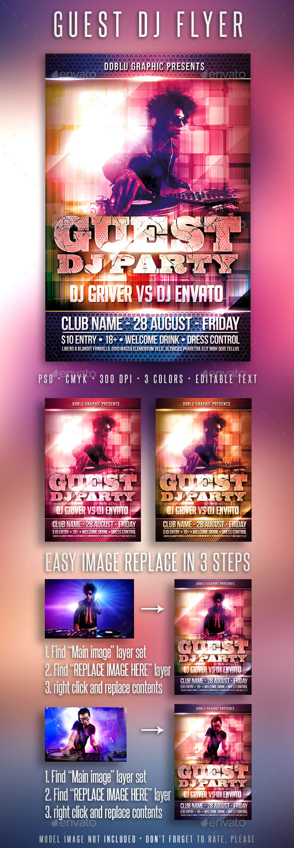 GraphicRiver Guest Dj Party Flyer 11309338