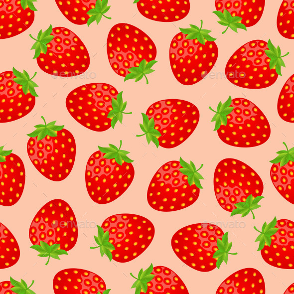 GraphicRiver Seamless Strawberry Pattern 11309352