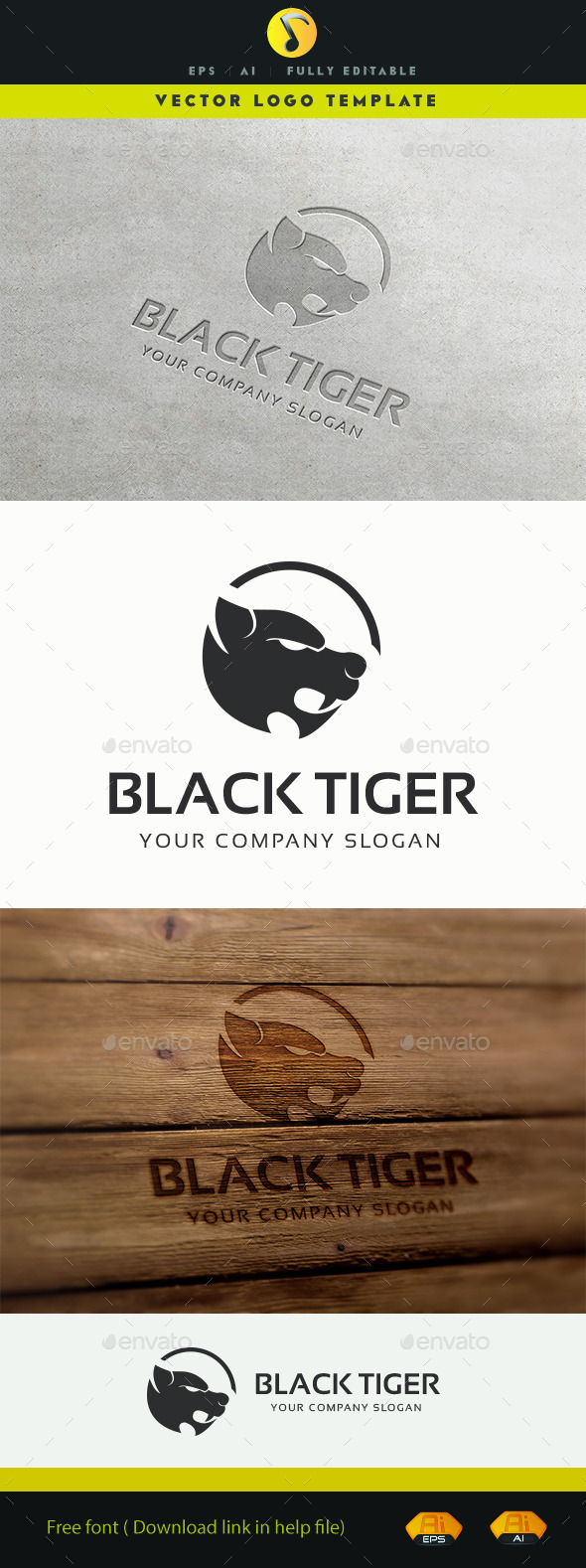 GraphicRiver Black Tiger 11309450