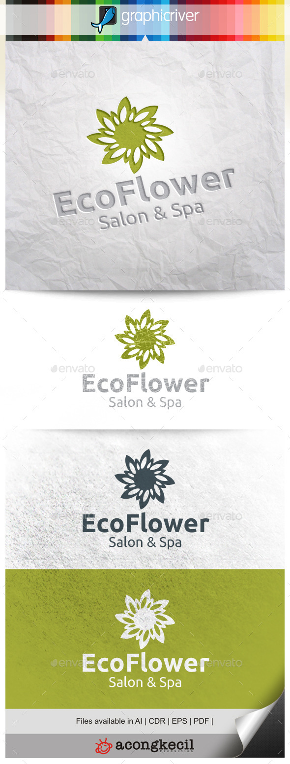 GraphicRiver Eco Flower 11309464