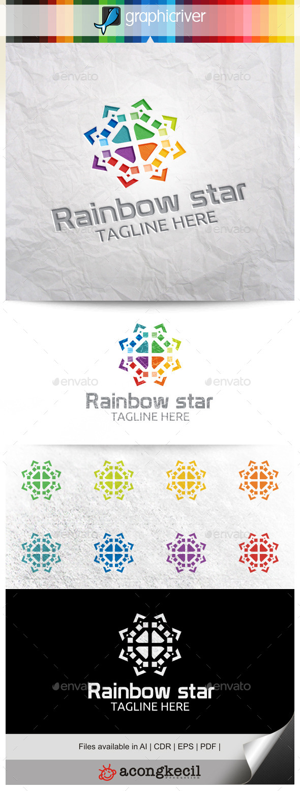 GraphicRiver Rainbow Star V.2 11309501