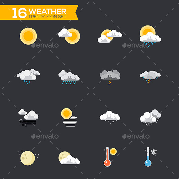 GraphicRiver Flat Weather Icons 11309600