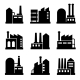 Factory And Power Industrial Building Icon Set 2 - GraphicRiver Item for Sale