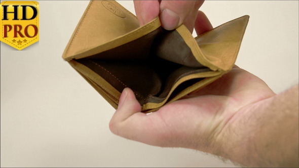 An Empty Brown Wallet