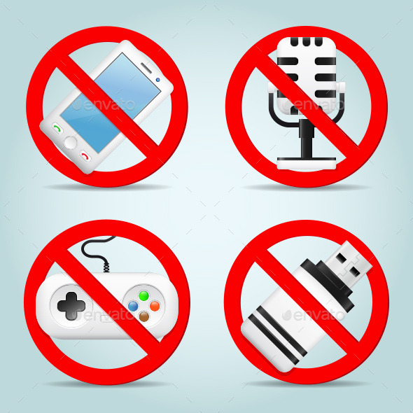 GraphicRiver Technology Prohibited Signs 11309651