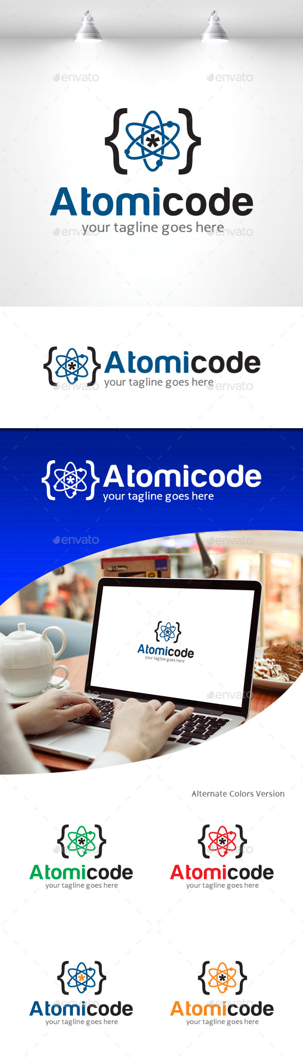 GraphicRiver Atomic Code Logo 11309657