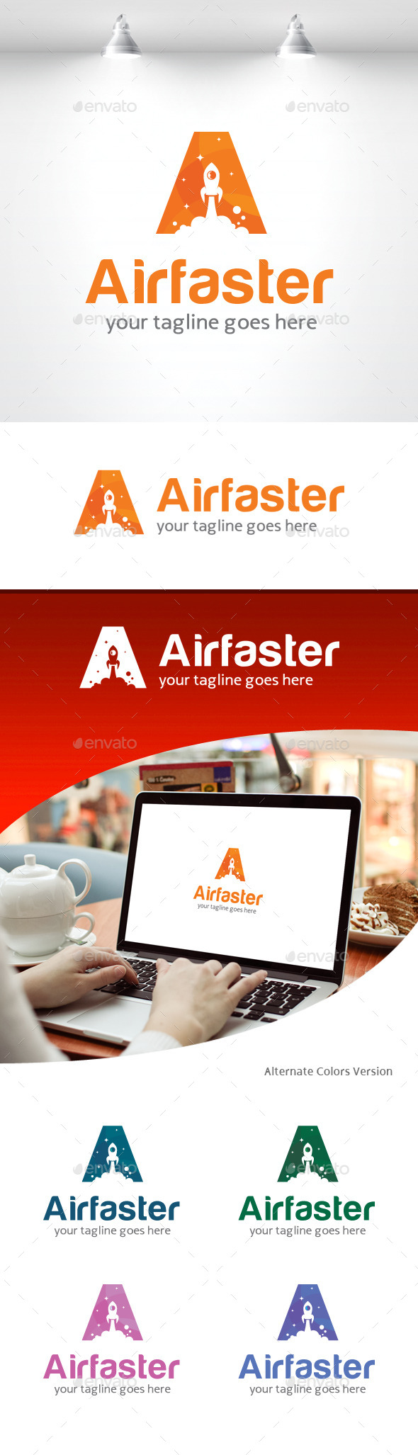 GraphicRiver Letter A Faster Logo 11309688