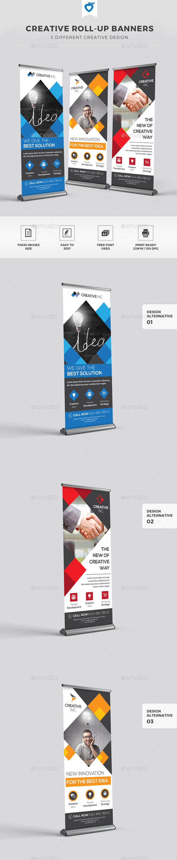 GraphicRiver Creative Roll-up Banners 11309735