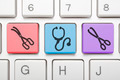 Medical icon key on keyboard - PhotoDune Item for Sale