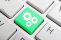 Three gears key on keyboard - PhotoDune Item for Sale