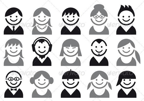 GraphicRiver Vector People Icon Set 1133526