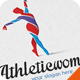 Athletic Woman Logo  - GraphicRiver Item for Sale