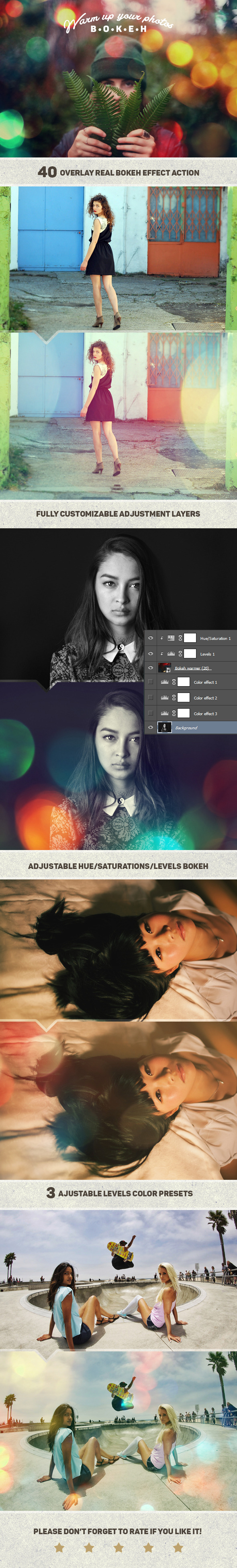 GraphicRiver Bokeh Photo Warmer Action 11310146