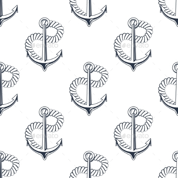 GraphicRiver Retro Ship Anchors Seamless Pattern 11310152