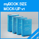 myBook Size Mock-up v1 - GraphicRiver Item for Sale