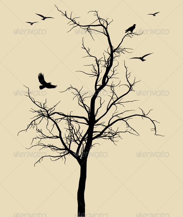 Dead Tree Silhouette Tattoo Images amp Pictures Becuo