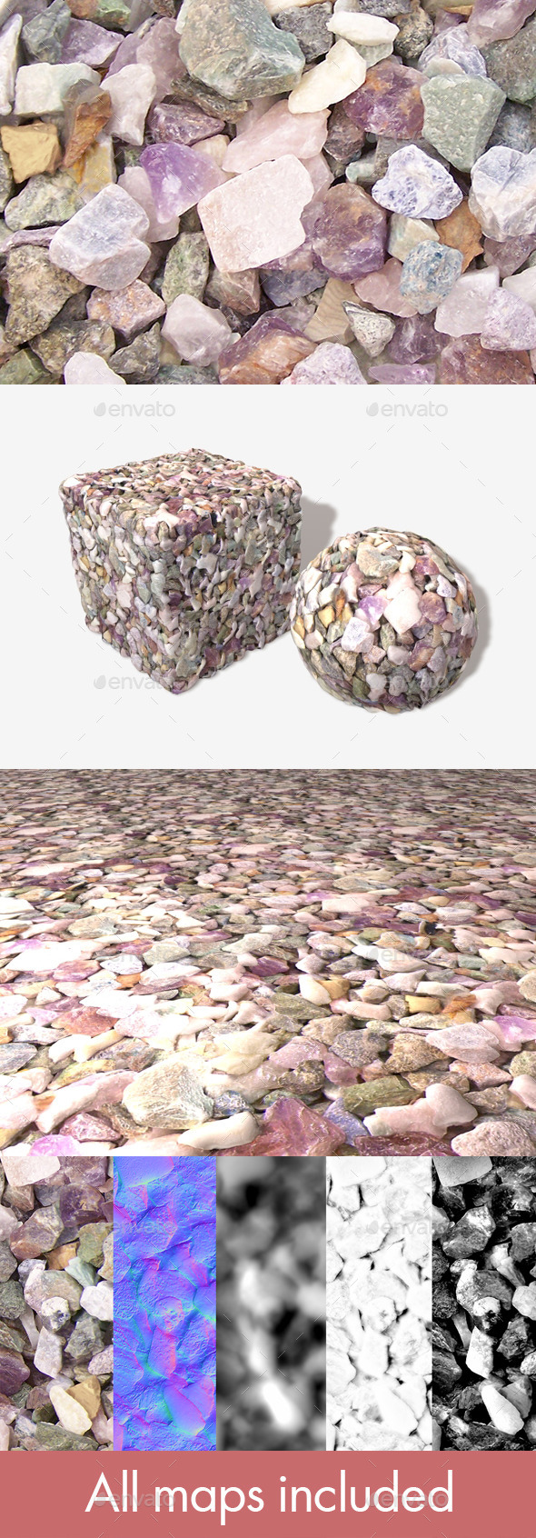 Colourful Stones Seamless Texture