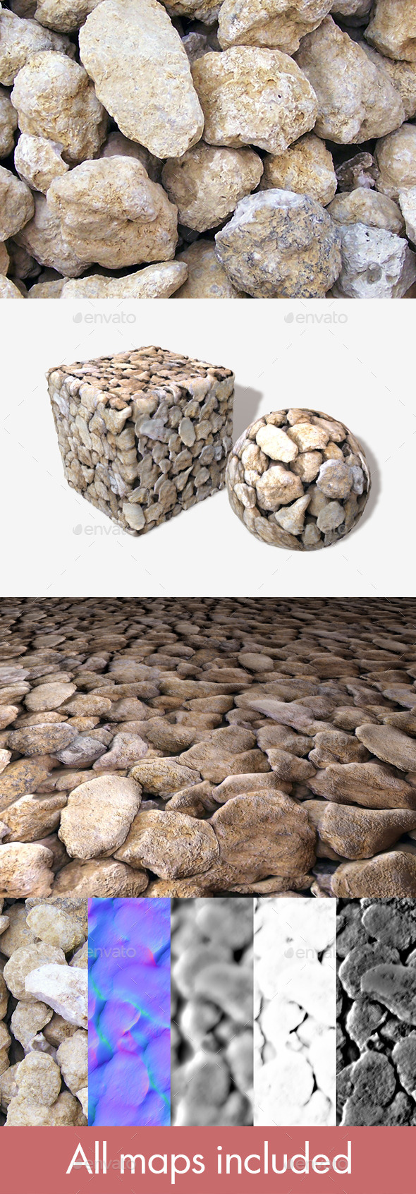 Geode Stones Seamless Texture - 3DOcean Item for Sale