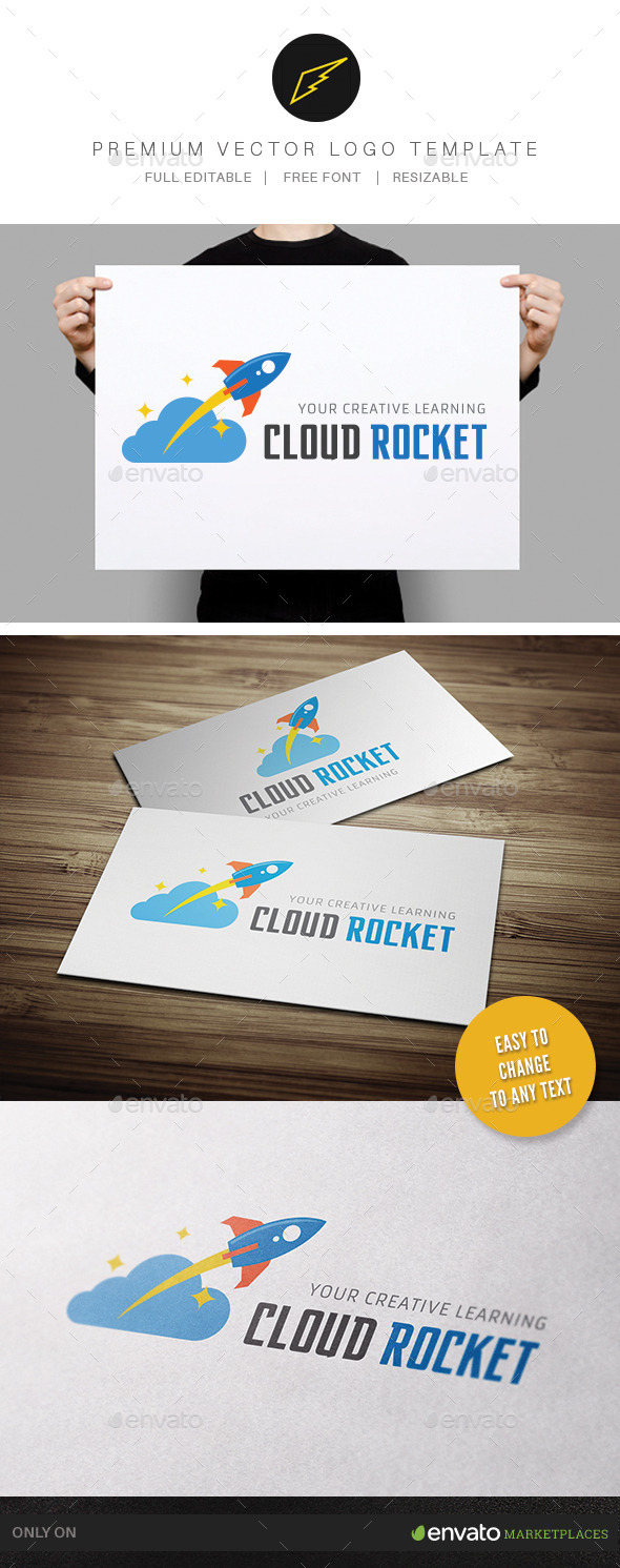 GraphicRiver Cloud Rocket 11310570