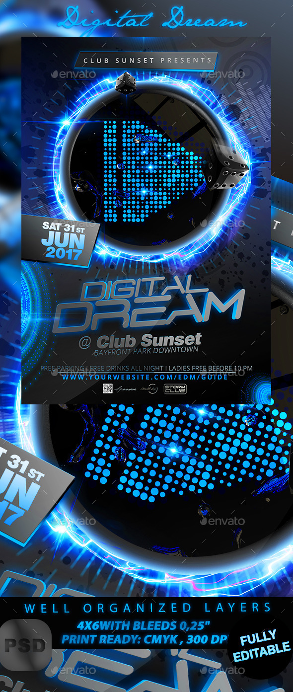 GraphicRiver Digital Dream Flyer Template 11310585