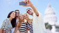 friends taking selfie with smartphone - PhotoDune Item for Sale