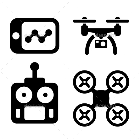 GraphicRiver Quadrocopter Icons 11310823