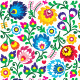 Seamless Polish Folk Art Floral Pattern