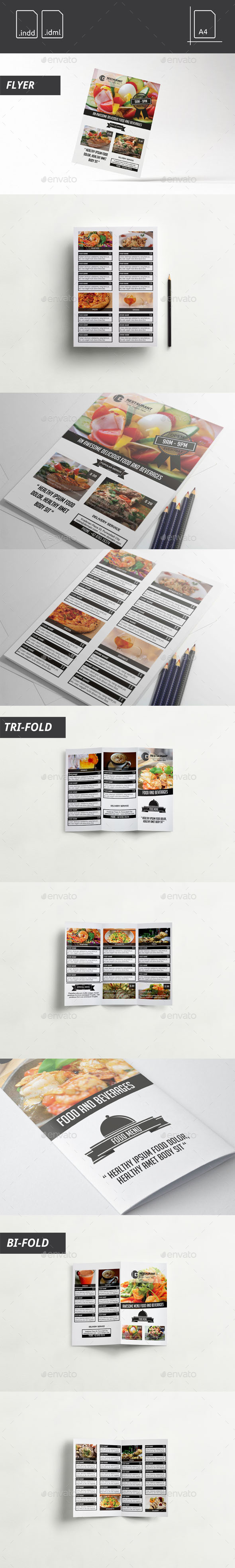 GraphicRiver Simple Black White Food Menu 11310856