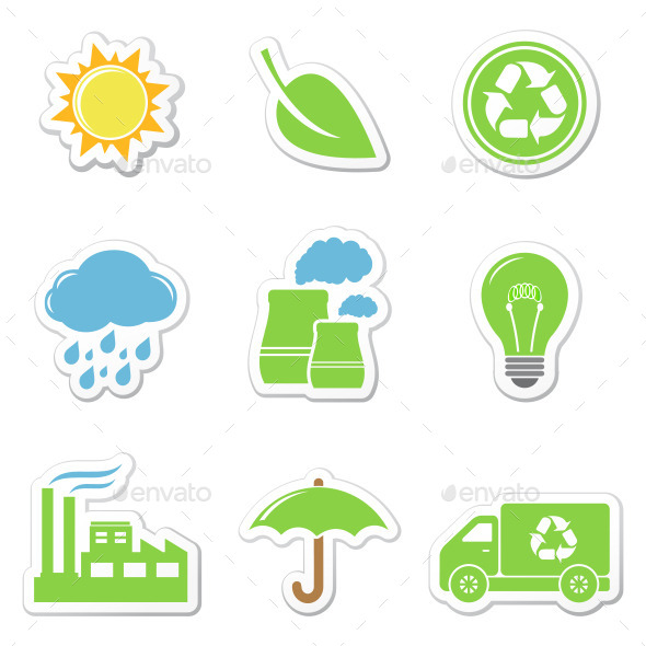 GraphicRiver Eco Stickers 11311286