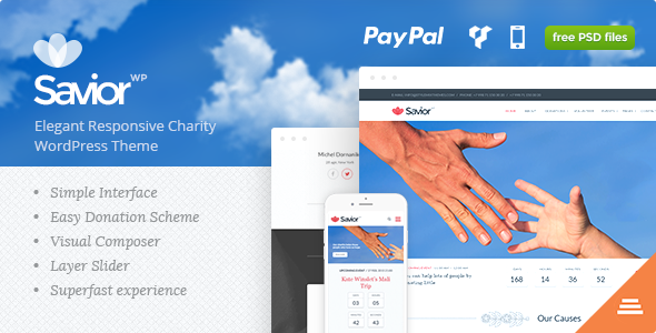 Savior - Charity & Donations WordPress Theme