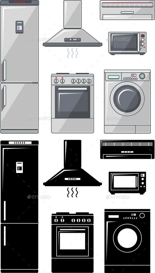 GraphicRiver Set of Household Appliances 11306348