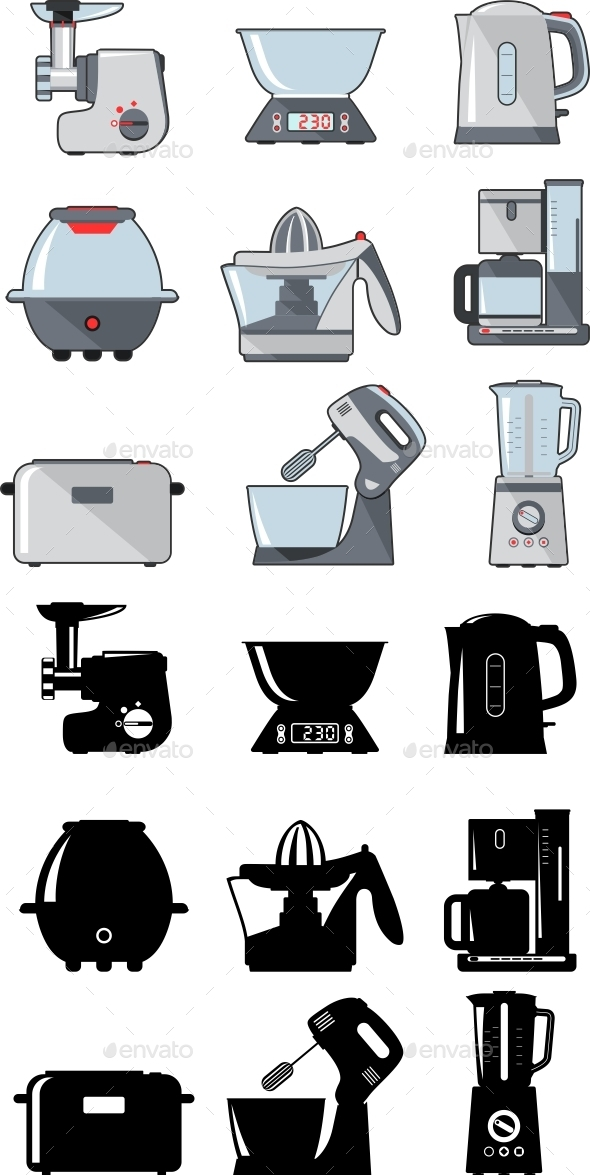 GraphicRiver Set of Household Kitchen Appliances 11306185
