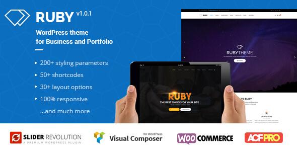 ruby wordpress theme for business and portfolio